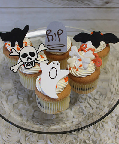 CC-035 Display Halloween Gold cupcake with chocolate filling