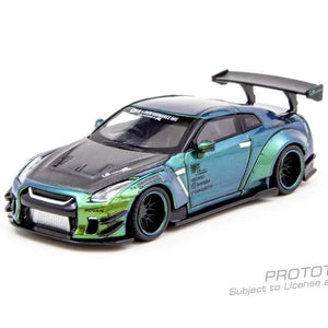 Tarmac Works x MINIGT, LB★WORKS Nissan GT-R (R35) Type 2, Rear Wing ver 3  Magic Green