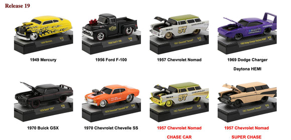 M2 Machines 1:64 Ground Pounders Release 19 (set of six)