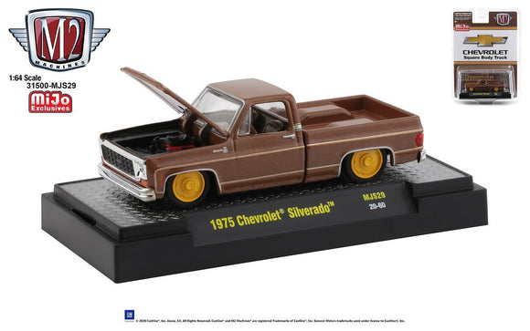 M2 Machines 1:64 MiJo Exclusives - Auto-Trucks - 1975 Chevrolet Silverado 'The Brown Bagger' - Limited to 4,800 pieces