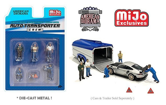 American Diorama 1:64 Mijo Exclusives Figures Auto Transport Crew Limited edition