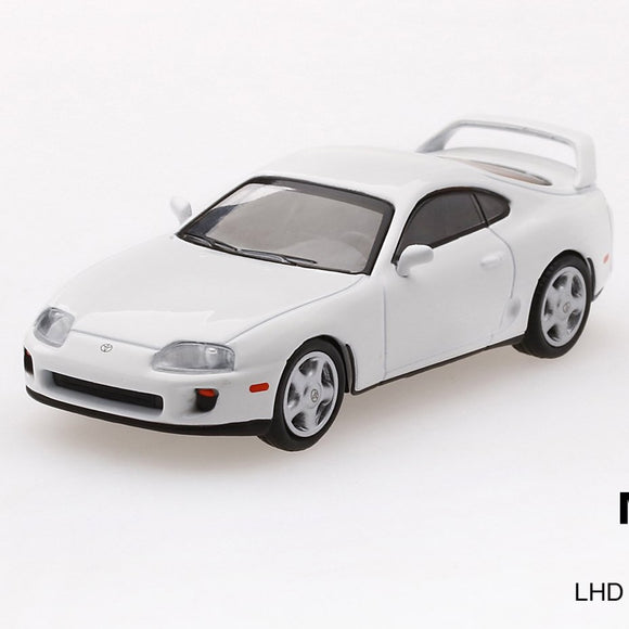 Mini GT 1:64 Toyota Supra ( JZA80) White MiJo Exclusives Limited 4,800 pcs