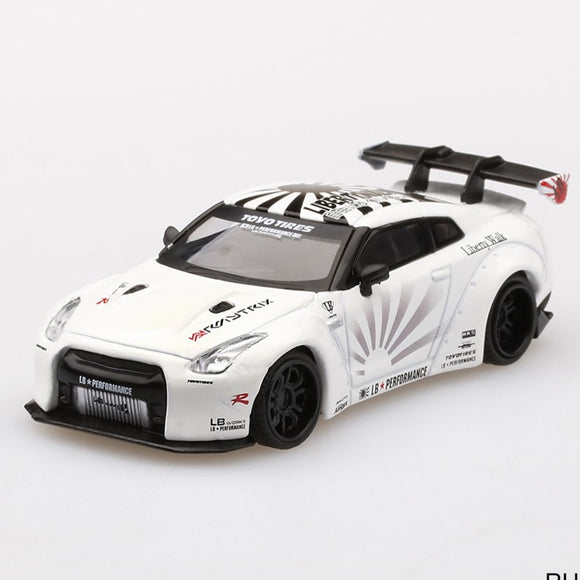 Mini GT 1:64 LB★WORKS Nissan GT-R (R35) Type 1 , Rear Wing White