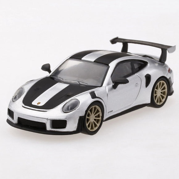 Mini GT 1:64 Porsche 911 (991) Turbo GT2RS GT LTD 3,600 (Silver)