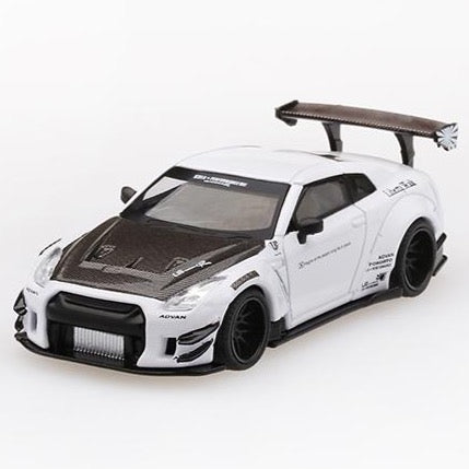 Mini GT 1:64 LB★WORKS Nissan GT-R R35 Type 2, Rear Wing ver 3 Limited 3,600 (White)
