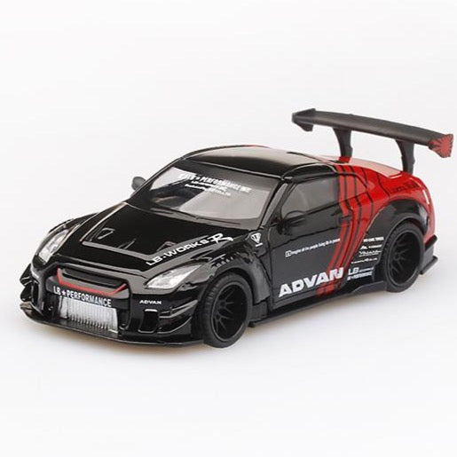 Mini GT 1:64 Japan Exclusive Nissan Gt-R R35 Liberty Walk L.B.W. ADVAN Yokahama