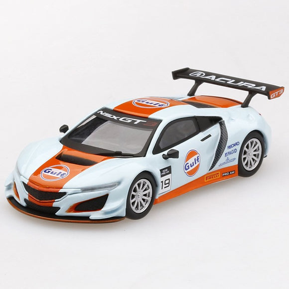 Mini GT 1:64 Acura NSX GT3 Gulf Racing Livery Mijo Exclusive Limited Edition 4,800
