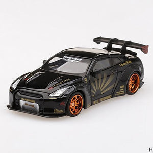 MINIGT  1:64 LB WORKS Nissan GT-R (R35) Black w/ Copper Wheels
