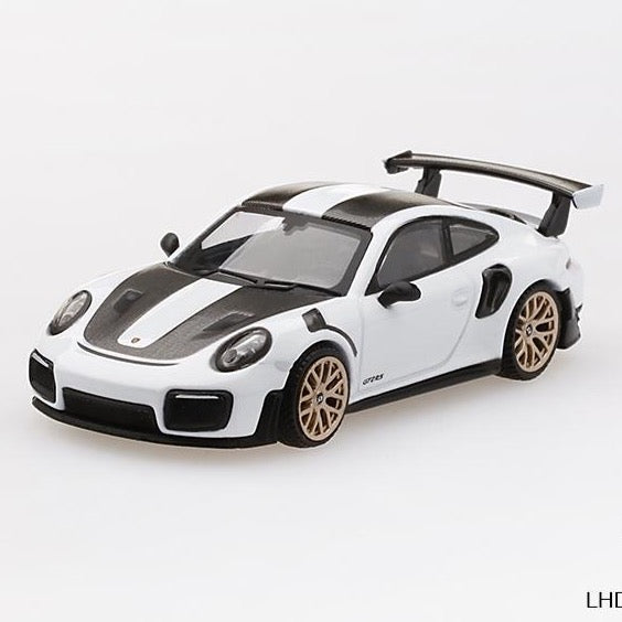 Mini GT 1:64 Porsche 911 GT2 RS Weissach Package White