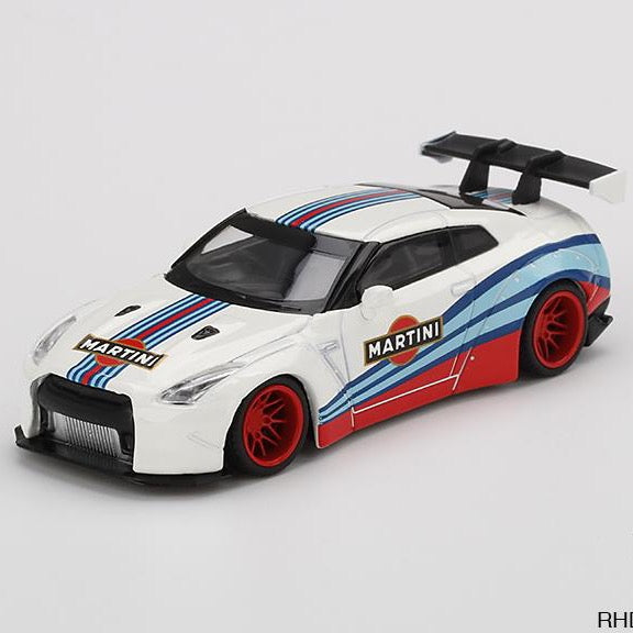 MINIGT  1:64 Nissan GT-R R35 Type1 LBW Martini Racing 2400 WH