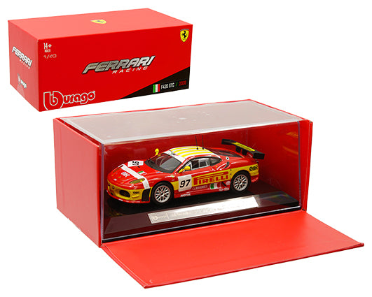 Bburago 1:43 Ferrari Racing - F430 GTC 2008 - Red/Yellow