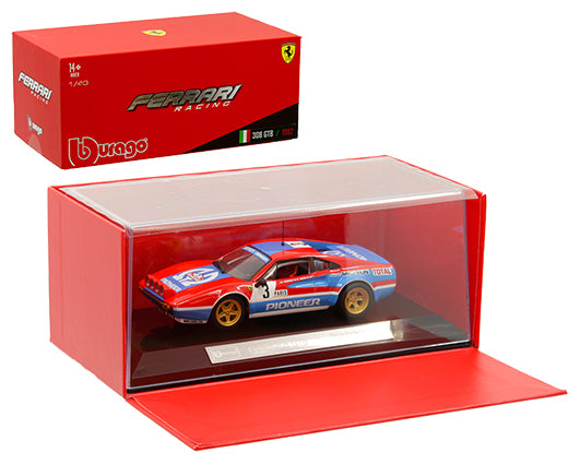 Bburago 1:43 Ferrari Racing - 308 GTB 1982 #3 - Red/Blue