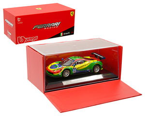 Bburago 1:43 Ferrari Racing - 458 Italia GT3 2015 - Green/Yellow/Red/Blue