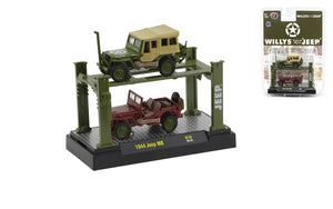 M2 Machines 1:64  2-Pack 1944 Willys MB Jeep (Auto-Lift Release 19)