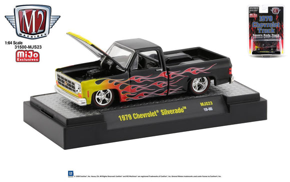 M2 Machines 1:64 Auto-Trucks Mijo Exclusive Chevy '79 Custom Flames