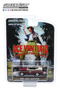 Greenlight  1:64 Hollywood Series 28 - Ace Ventura: When Nature Calls (1995) - 1967 Jeep Jeepster Convertible