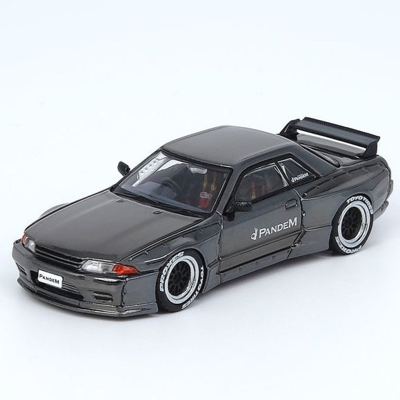 Inno64 1:64 NISSAN SKYLINE GT-R R32 PANDEM Chrome Black Hong Kong Special Edition