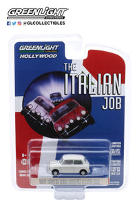 Greenlight 1:64 Hollywood Series 28 - The Italian Job (1969) - 1967 Austin Mini Cooper S 1275 MkI - White with Black Leather Straps