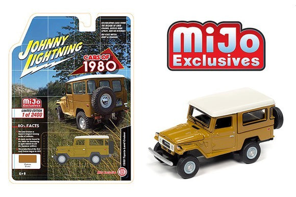 JOHNNY LIGHTNING 1/64 1980 TOYOTA LAND CRUISER CUSTOM BROWN / MIJO EXCLUSIVE