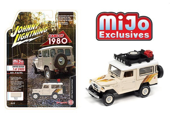 JOHNNY LIGHTNING 1/64 1980 TOYOTA LAND CRUISER 4X4 BEIGE / MIJO EXCLUSIVE