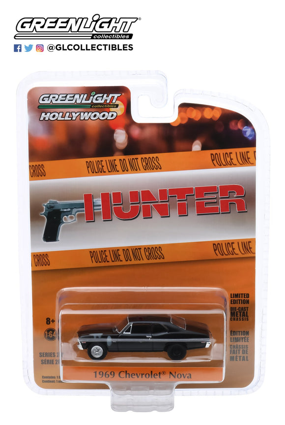 Greenlight 1:64 Hollywood Series 28 - Hunter (1984-91 TV Series) - 1969 Chevrolet Nova Police