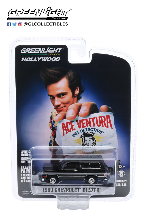 Greenlight 1:64 Hollywood Series 28 - Ace Ventura: Pet Detective (1994) - 1989 Chevrolet Blazer