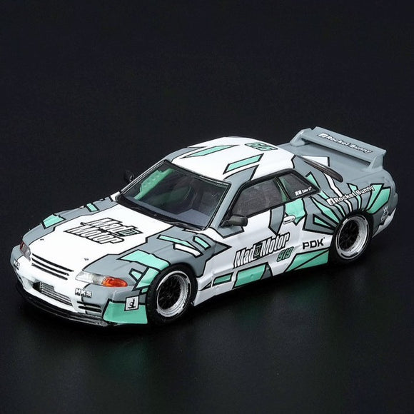 Inno64 1:64 NISSAN SKYLINE GT-R R32 Pandem ECHO GAO (China's Drift Queen)and MADMOTOR EXCLUSIVE