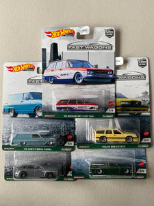 Hot Wheels  1/64 Car Culture Fast Wagons Set of 5