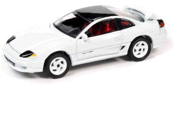 Auto World 1:64 1992 Dodge Stealth R/T Twin Turbo in Gloss White with Black Roof