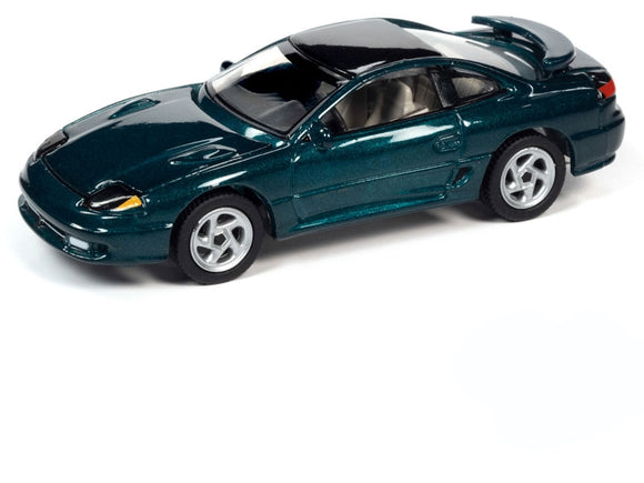 Auto World 1:64 1992 Dodge Stealth R/T Twin Turbo in Emerald Green with Black Roof