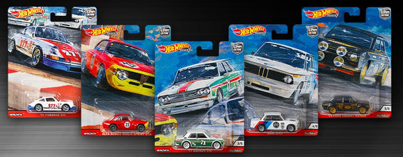 Hot Wheels  1/64 Car Culture Door Slammers 'N' Case Set of 5