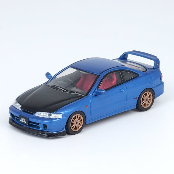INNO64 1:64 HONDA INTEGRA TYPE-R DC2 Blue W/ Extra wheels and Extra decals