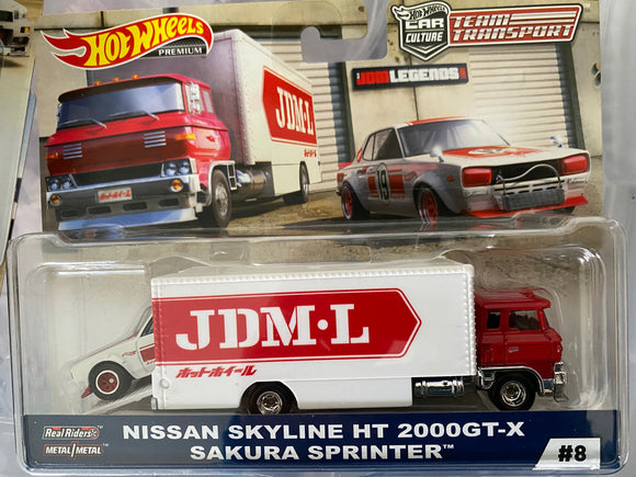 Hot Wheels 1:64 2019 Team Transport  Sakura Sprinter W/ Nissan Skyline 2000 GT-X
