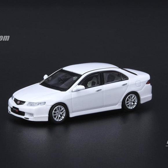 1:64 HONDA ACCORD Euro-R CL7 Premium White Pearl W/Extra Wheels and Extra Decals