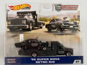 Hot Wheels 1:64 2019 '66 SUPER NOVA w/ RETRO RIG