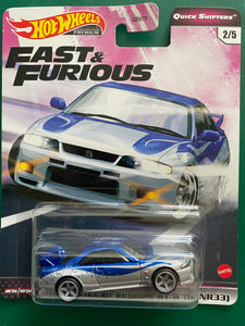 Hot Wheels 1:64 F&F Quick Shifters 2020 Nissan Skyline R33