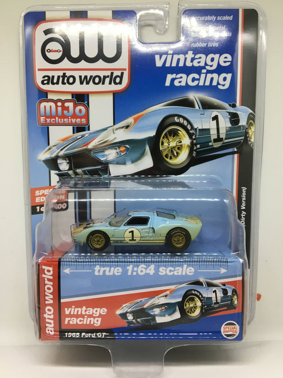 Auto World 1:64 Mijo Exclusive Ford GT 1965 #1 Dirty version Limited 2,400 (Ken Miles)
