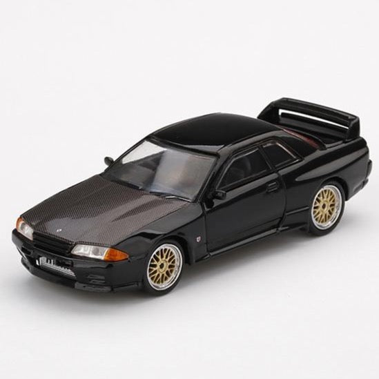MINI GT 1/64 Nissan GT-R R32  Black w/ BBS LM Wheel
