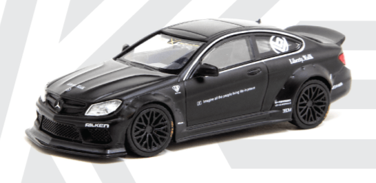 KJ Miniatures 1:64 LBWK Mercedes-Benz C63 Coupe Matte Black