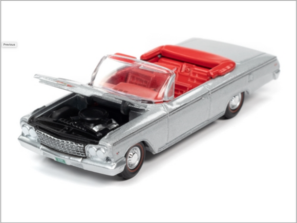 Auto World 1:64 Premium 1962 Chevrolet Impala SS Convertible (Satin Silver Poly)