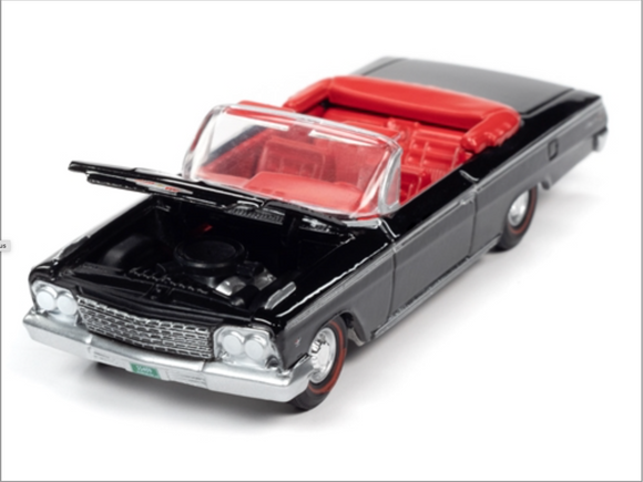 Auto World 1:64 Premium 1962 Chevrolet Impala SS Convertible (Gloss Black)