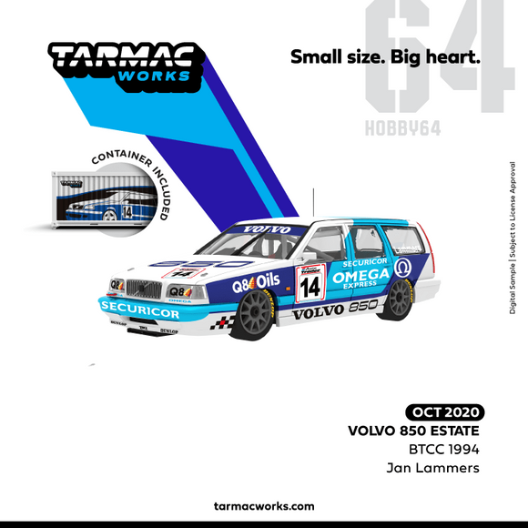 Volvo 850 Estate BTCC 1994 #14, Jan Lammers  (With Container )