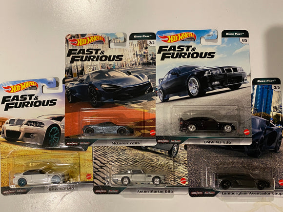 Hot Wheels  1/64 Fast and Furious Euro Fast