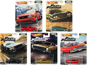"Hot Wheels  1/64 Fast and Furious Motor City Muscle ""G"" Case Set of 5"