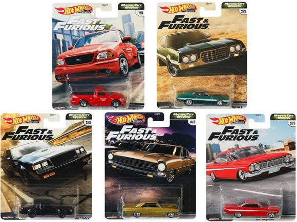 Hot Wheels  1/64 Fast and Furious Motor City Muscle