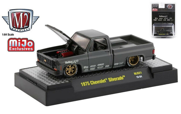 M2 1:64 Auto Trucks 1975 Chevy Silverado Holley Pickup