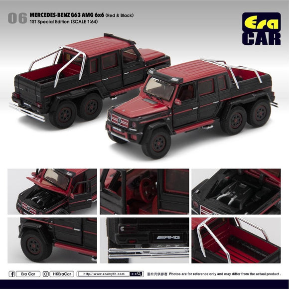 ERA #06 1:64 Mercedes-Benz G63 AMG 6x6 1st Special Edition (Red Black)