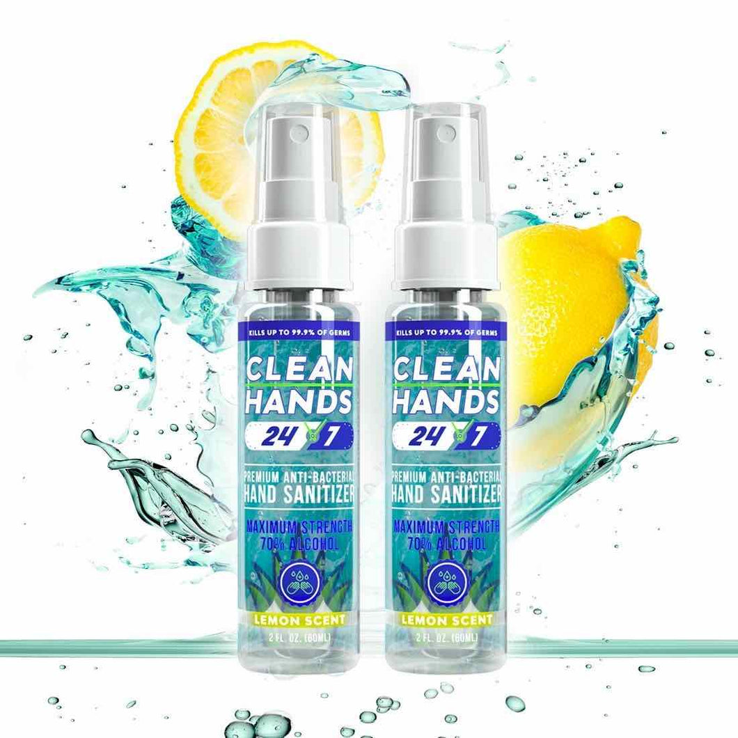 Spray Hand Sanitizer 2oz. |  Two Pack - Clean Hands 24/7