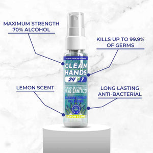 Spray Hand Sanitizer 2oz. | 100 Pack - Wholesale - Clean Hands 24/7