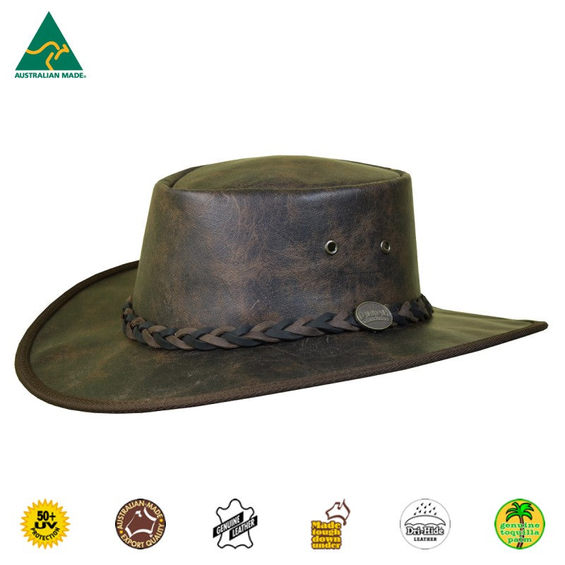 HAT - KANGAROO LEATHER SQUASHY VINTAGE 2 TONE